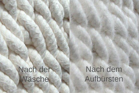 Das Netz nach der Wäsche aufbürsten