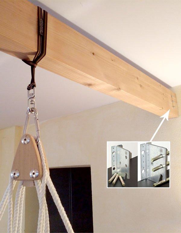 Balkenmontage mit Integralverbinder
